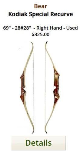 Bear Kodiak Special Recurve - 69-28 - Used