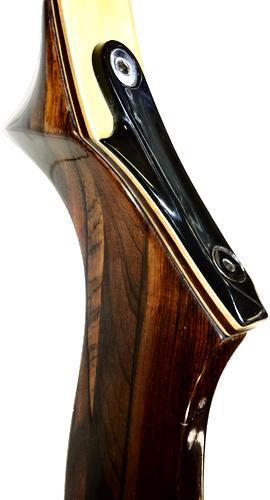 "Wing Presentation II Recurve Bow - 66"" - 30#@28"" - Used - Detail"